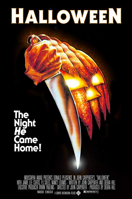 Halloween movie poster for a Top 10 Halloween movie list